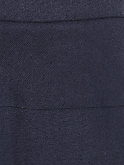 Укороченные брюки прямого кроя из хлопка - Деталь