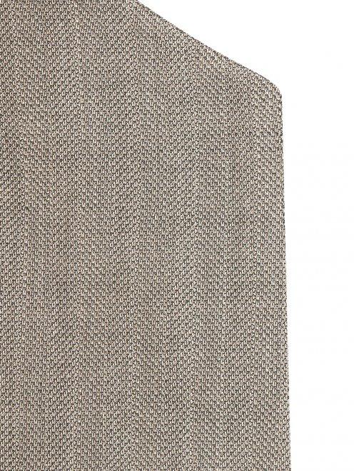 Однобортный жакет из шерсти с узором - Деталь1