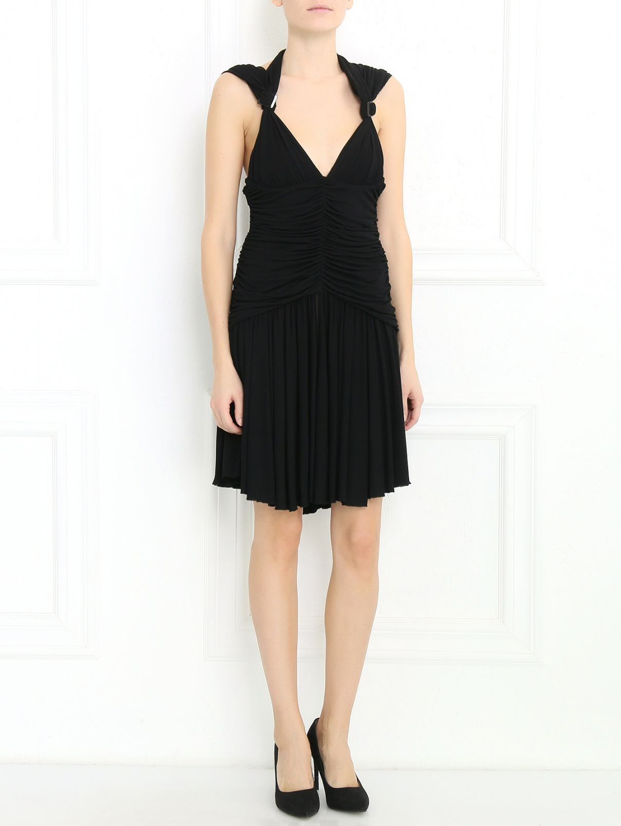 Платье-мини из трикотажа Jean Paul Gaultier  –  Модель Общий вид