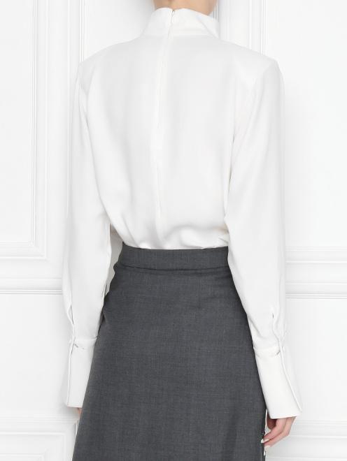 Блуза шелковая со сборкой  - МодельВерхНиз1