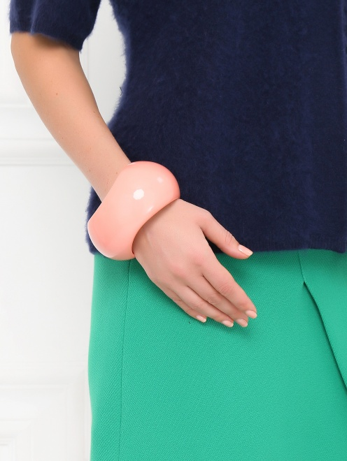 Широкий браслет из пластика - Модель Верх-Низ