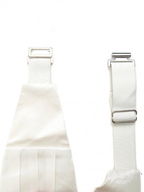 Набор из пояса и галстука-бабочки из шелка  - Деталь1