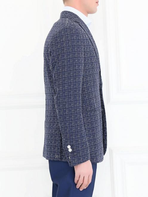Пиджак с узором из шерсти и шелка - Модель Верх-Низ2