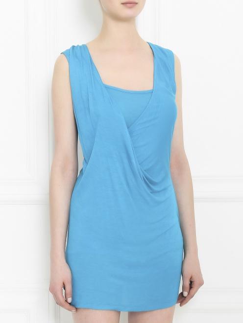 Платье-мини из трикотажа - Модель Верх-Низ