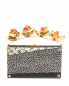Сумка из кожи под рептилию с металлическим декором DEBORAH SAWAF  –  Общий вид