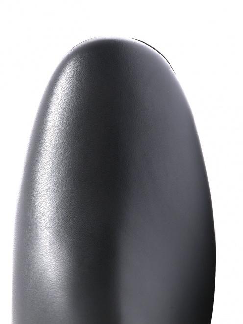 Полусапоги из гладкой кожи на устойчивом каблуке  - Обтравка3