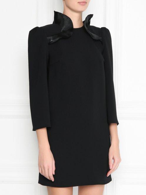 Платье-мини с декором - МодельВерхНиз