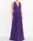Плиссированное платье-макси с узором Moschino Boutique  –  Модель Общий вид