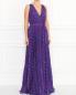 Плиссированное платье-макси с узором Moschino Boutique  –  Модель Верх-Низ