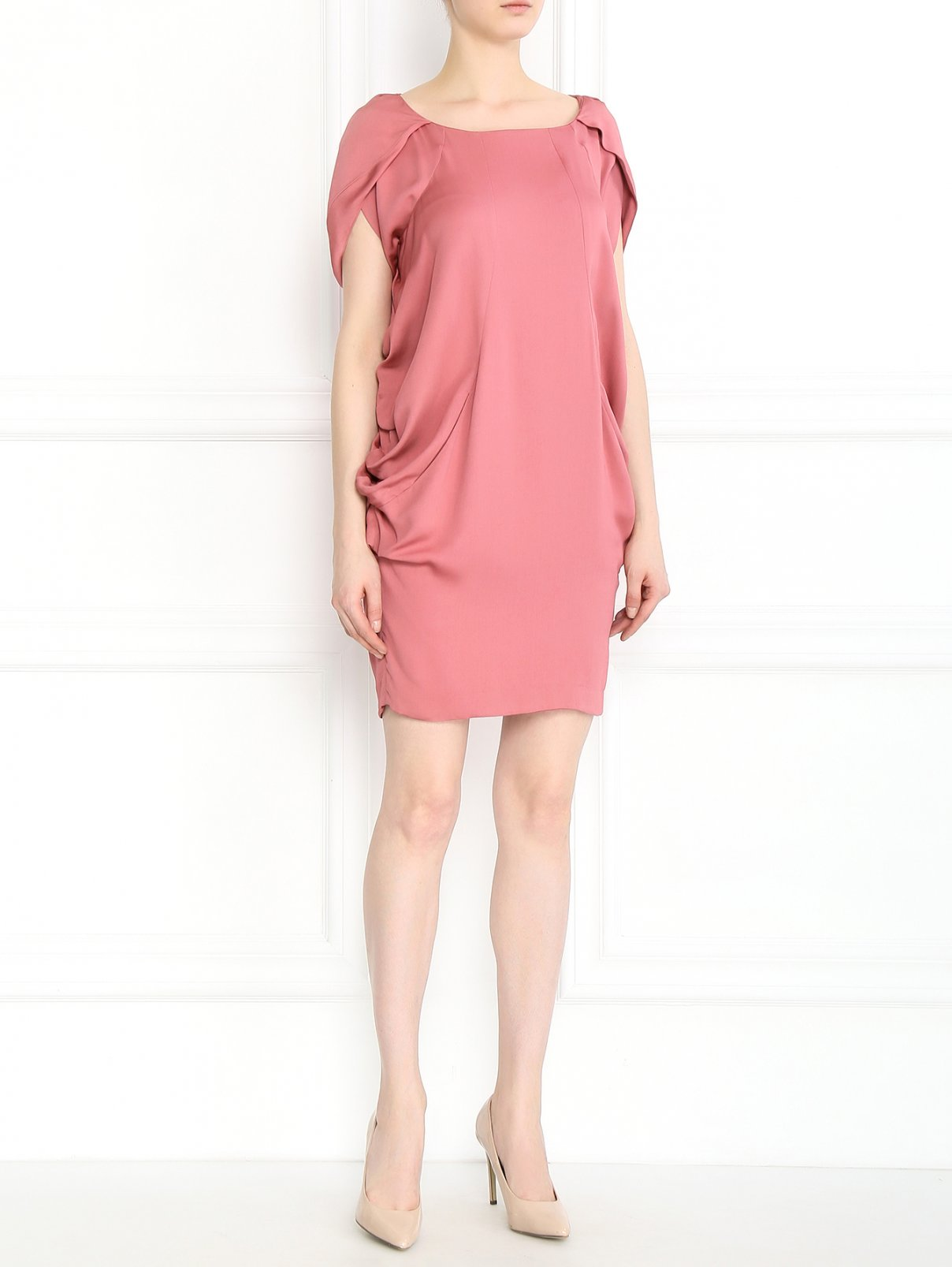 Платье-футляр с драпировкой Moschino  –  Модель Общий вид