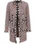 Пальто из смесовой шерсти с узором и декоративной отделкой Giambattista Valli  –  Общий вид