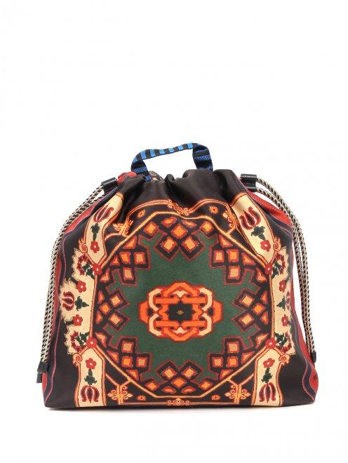 Рюкзак текстильный с узором  - Общий вид