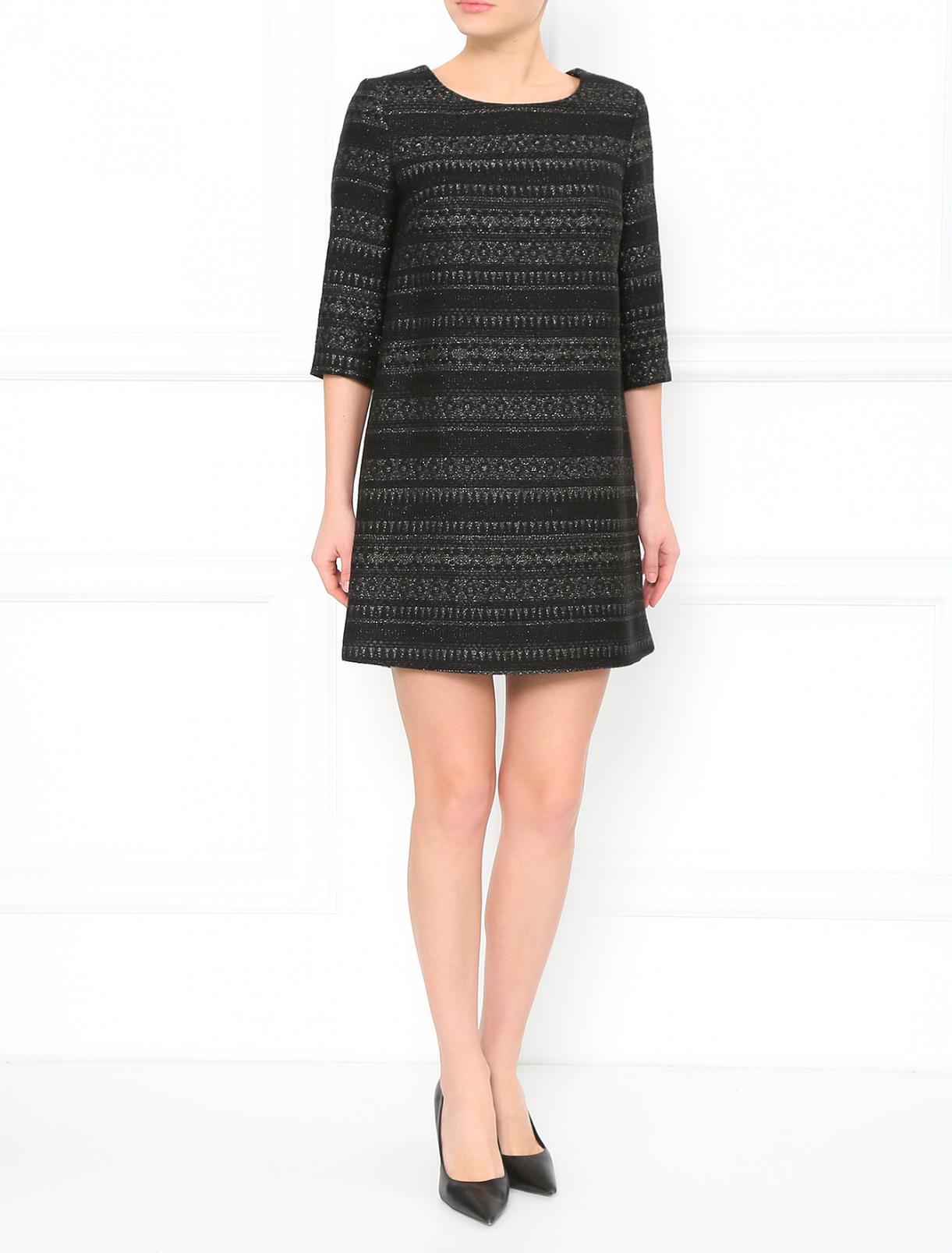 Мини-платье прямого фасона с рукавами 3/4 Vanda Catucci  –  Модель Общий вид
