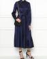 Платье-миди из шелка с поясом Max Mara  –  МодельОбщийВид