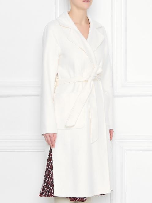 Пальто-халат, из шерсти - МодельВерхНиз