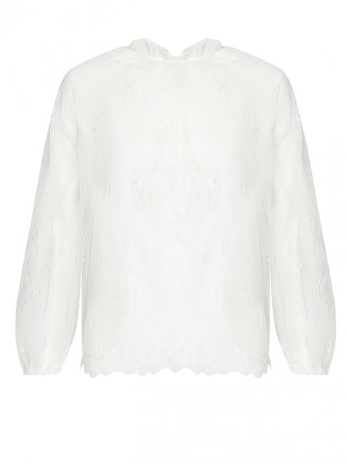 Блуза кружевная, со сборкой - Общий вид