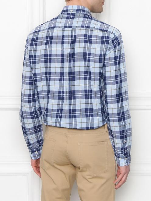 Рубашка из хлопка и льна с узором - МодельВерхНиз1