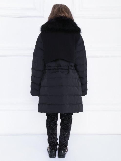 Пальто утепленное с декором на вороте - МодельВерхНиз1
