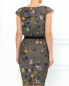 Платье из шелка с драпировкой и декорированным поясом Moschino Cheap&Chic  –  Модель Верх-Низ1