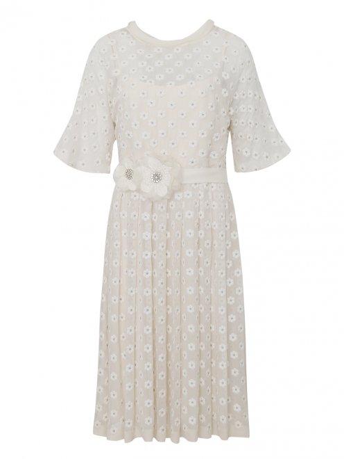 Платье из шелка с вышивкой - Общий вид