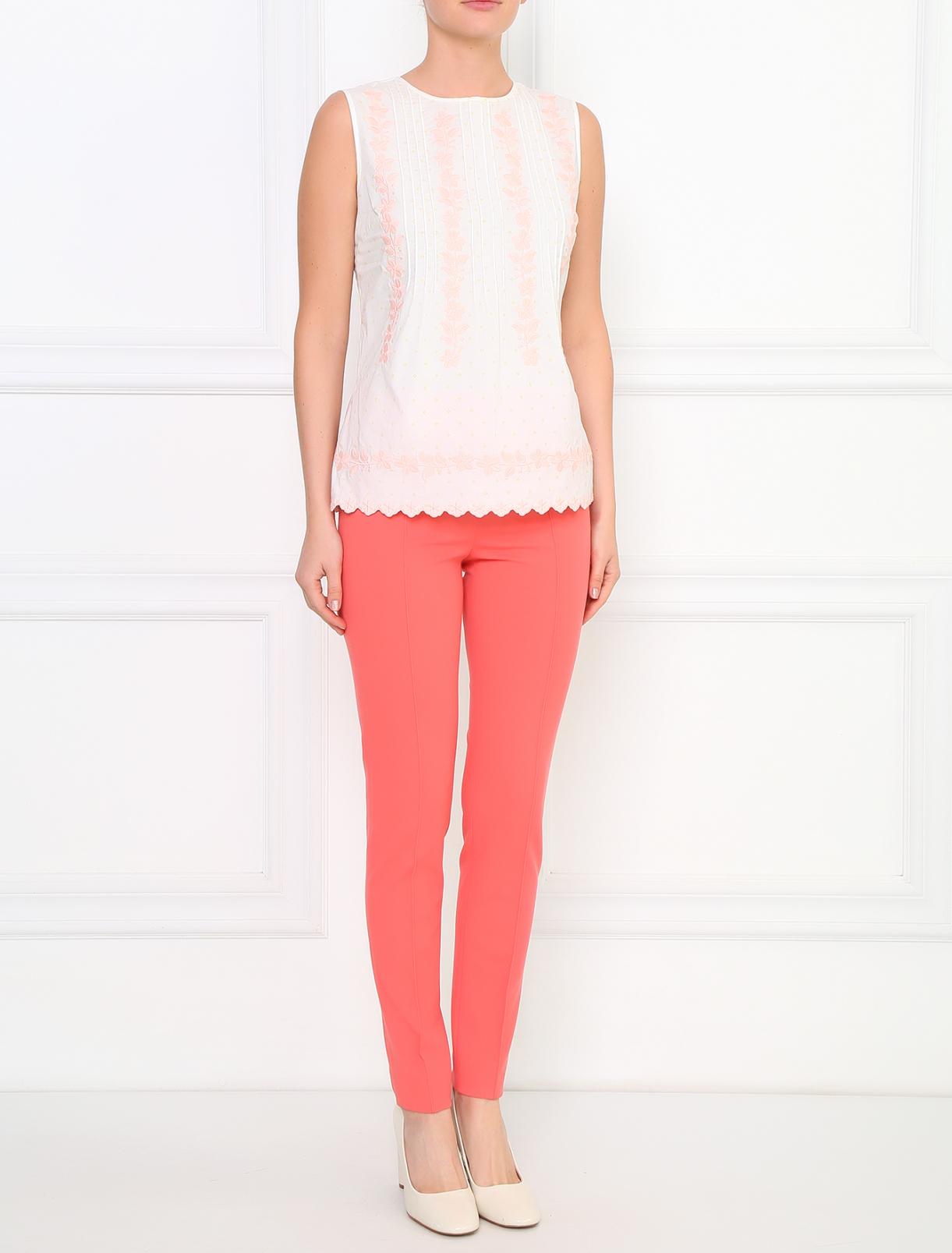 Трикотажные брюки узкого кроя Moschino Cheap&Chic  –  Модель Общий вид