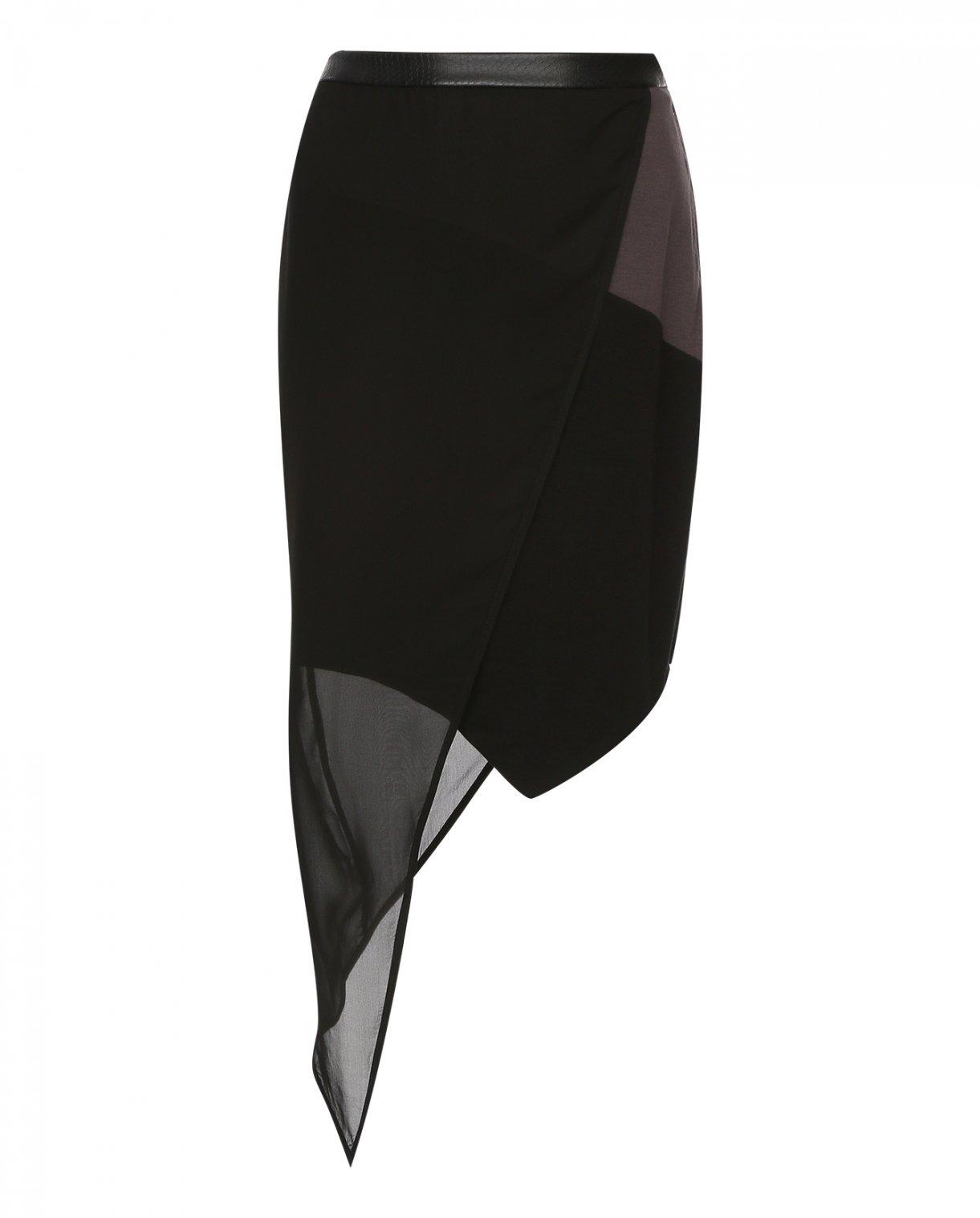 Юбка мини N12H  –  Общий вид  – Цвет:  Черный