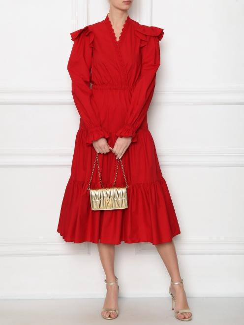 Платье-миди из хлопка - Общий вид
