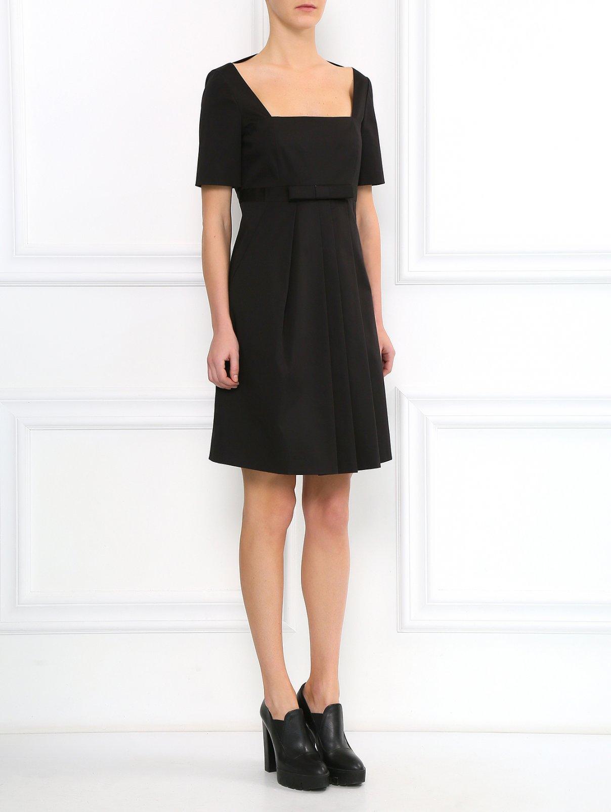 Платье-мини из хлопка с боковыми карманами Moschino Cheap&Chic  –  Модель Общий вид