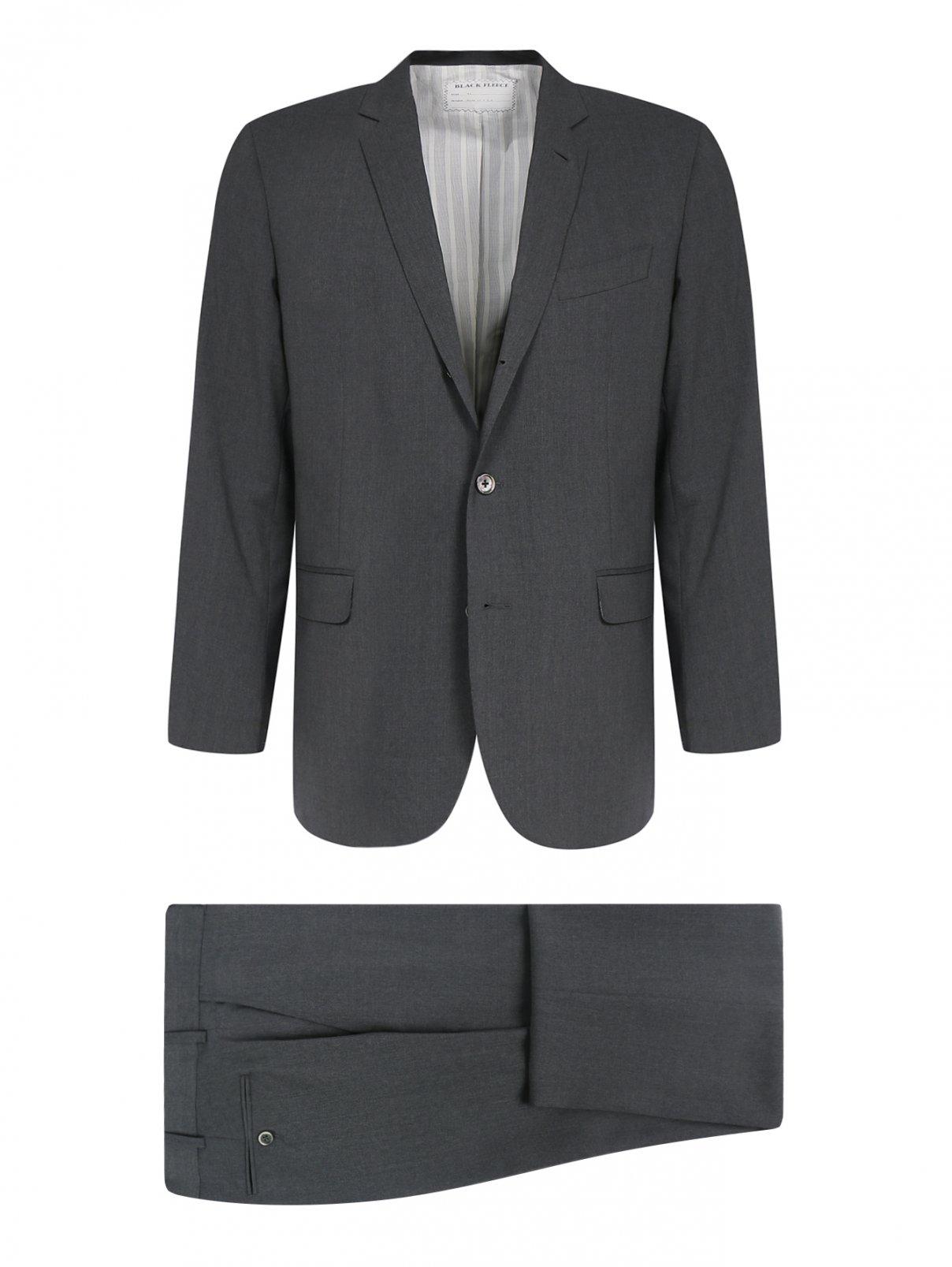 Костюм из шерсти Brooks Brothers  –  Общий вид  – Цвет:  Серый