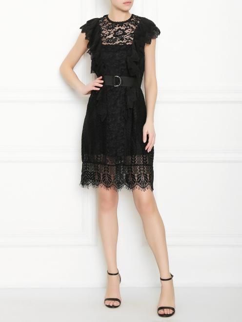 Платье кружевное из вискозы - Общий вид