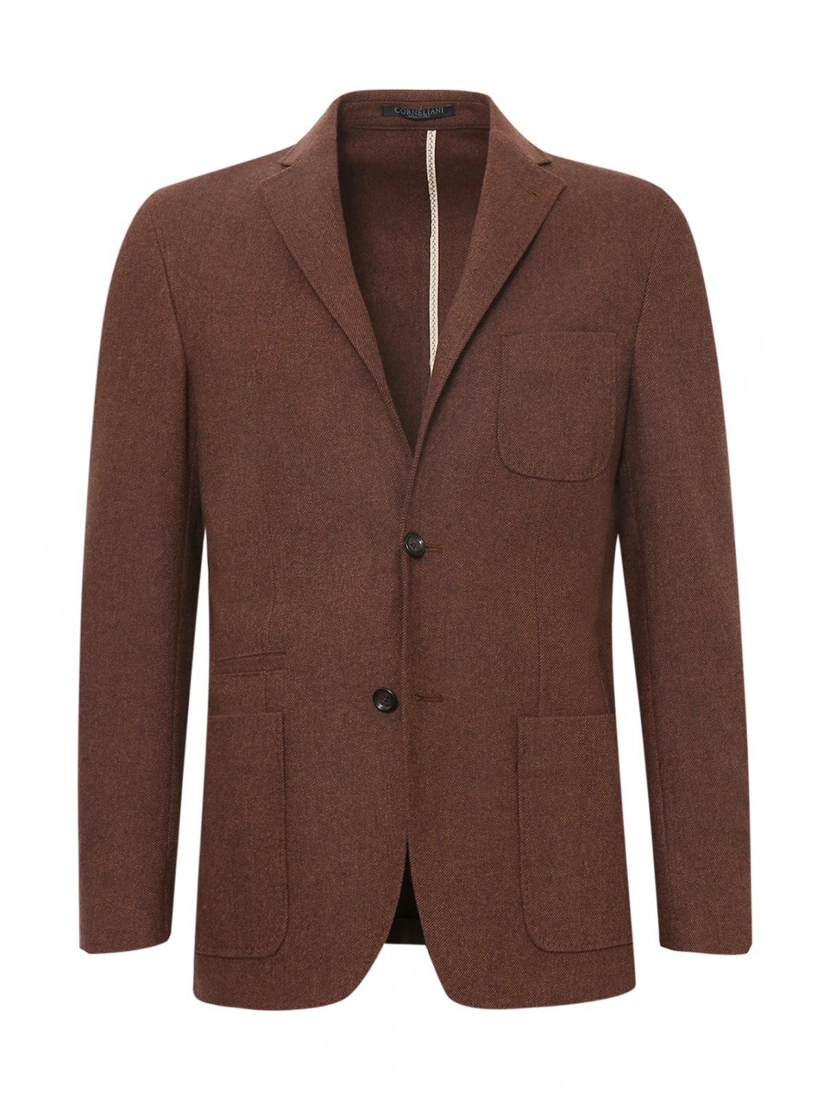Однобортный пиджак из шерсти Corneliani ID  –  Общий вид