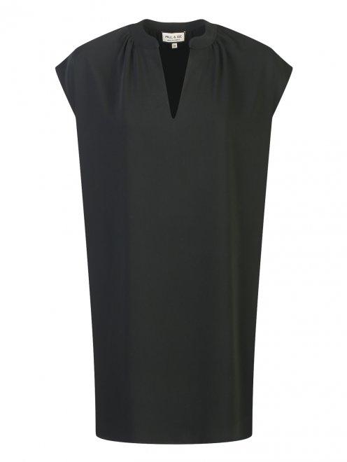 Платье свободного кроя с боковыми карманами - Общий вид