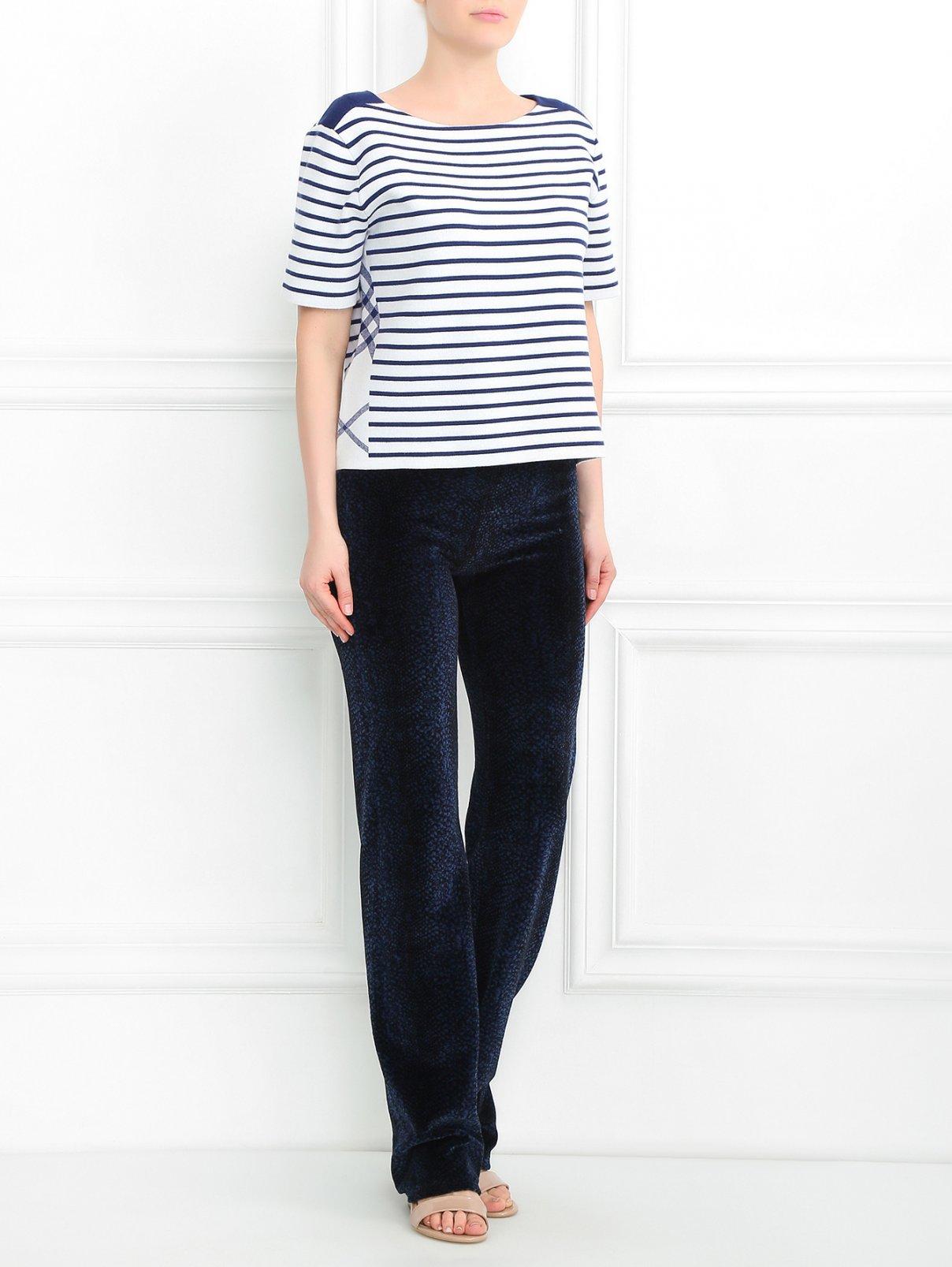 Бархатные брюки на резинке Versace  –  Модель Общий вид