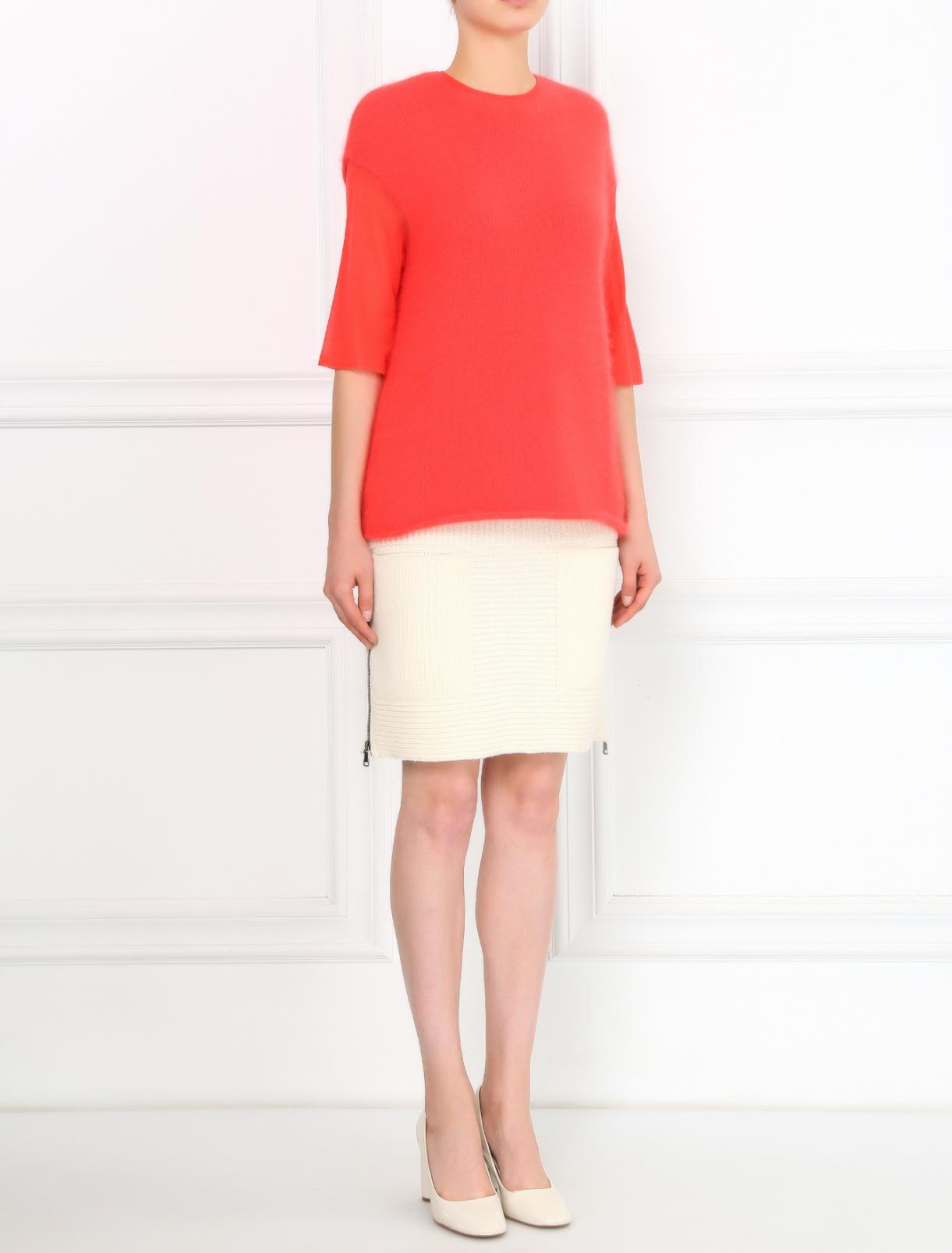 Трикотажная юбка из шерсти и кашемира с накладными карманами Aimo Richly  –  Модель Общий вид