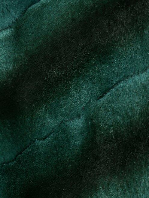 Жилет из кашемира и меха - Деталь