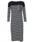 Платье трикотажное из хлопка в полоску Weekend Max Mara  –  Общий вид