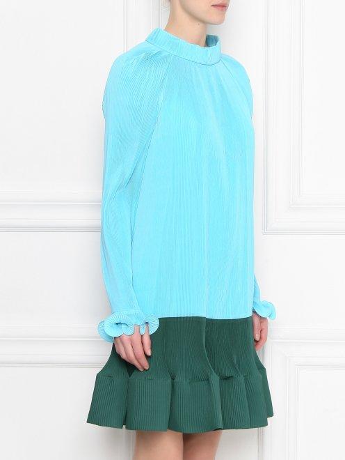 Платье из плиссированной ткани - МодельВерхНиз