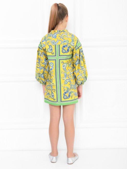Платье хлопковое с цветочным узором - МодельВерхНиз1