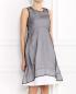 Платье-миди из полиэстера и хлопка с контрастной отделкой Jil Sander  –  Модель Верх-Низ