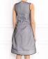 Платье-миди из полиэстера и хлопка с контрастной отделкой Jil Sander  –  Модель Верх-Низ1