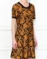 Платье из трикотажа с узором Michael by Michael Kors  –  МодельВерхНиз
