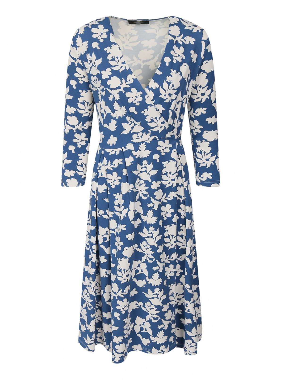 Трикотажное платье с узором Weekend Max Mara  –  Общий вид