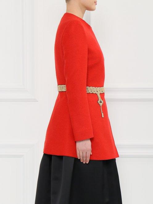 Пальто из смешанной шерсти - Модель Верх-Низ2
