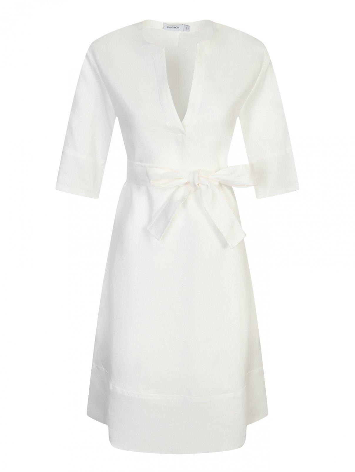 Платье-мини из льна Max&Co  –  Общий вид