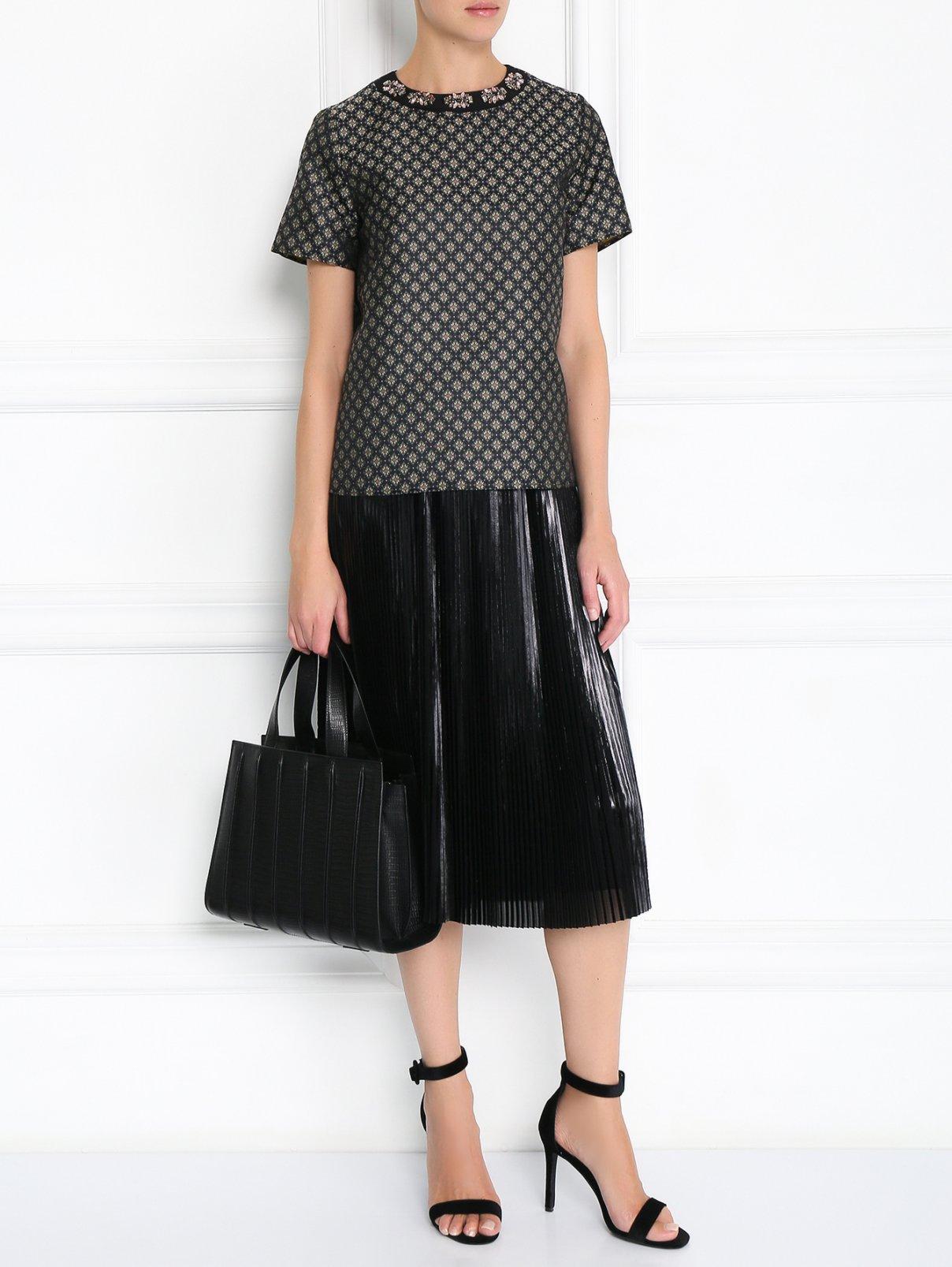 Блуза свободного кроя с узором и декоративной отделкой Etro  –  Модель Общий вид  – Цвет:  Узор